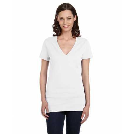 Bella + Canvas B6035 Ladies' Jersey Short-Sleeve Deep V-Neck T-Shirt