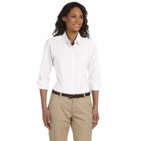 Devon & Jones DP625W Ladies' Perfect Fit Three-Quarter Sleeve Stretch Poplin Blouse