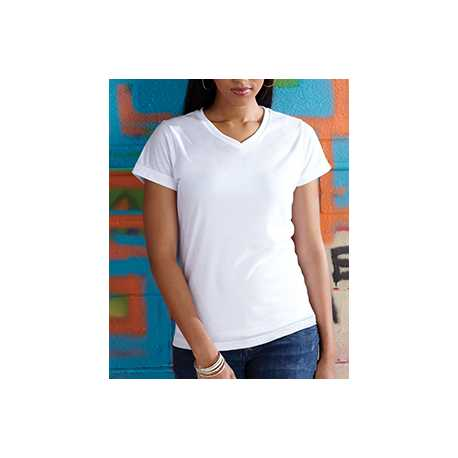 Sublivie 1507 Ladies' Polyester V-Neck T-Shirt