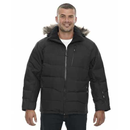 North End 88179 Men's Boreal Down Jacket with Faux Fur Trim