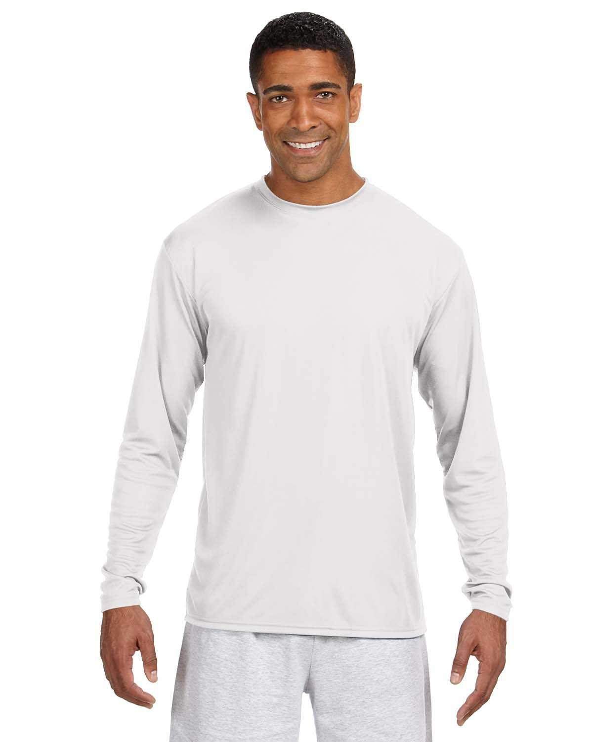 A4 N3165 Men S Long Sleeve Cooling Performance Crew