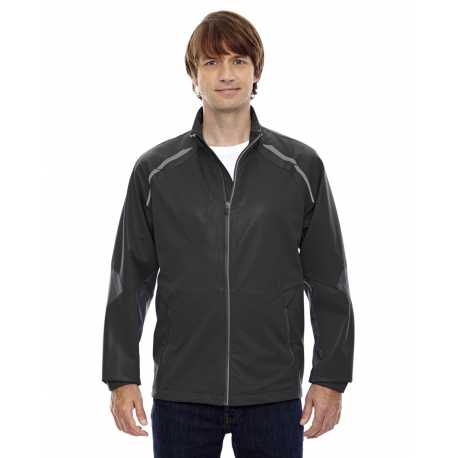 North End Sport Red 88654 Men's Dynamo Three-Layer Lightweight Bonded Performance Hybrid Jacket