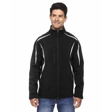 North End Sport Red 88650 Men's Enzo Colorblocked Three-Layer Fleece Bonded Soft Shell Jacket
