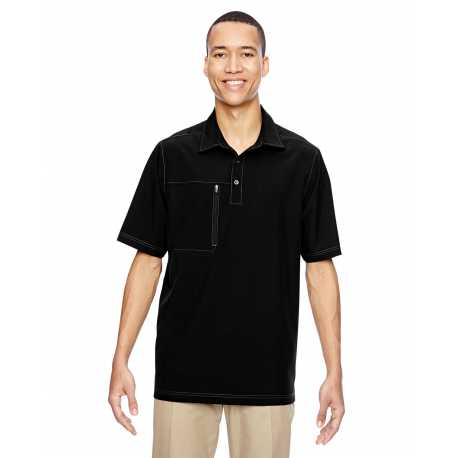 North End 85120 Men's Excursion Crosscheck Woven Polo
