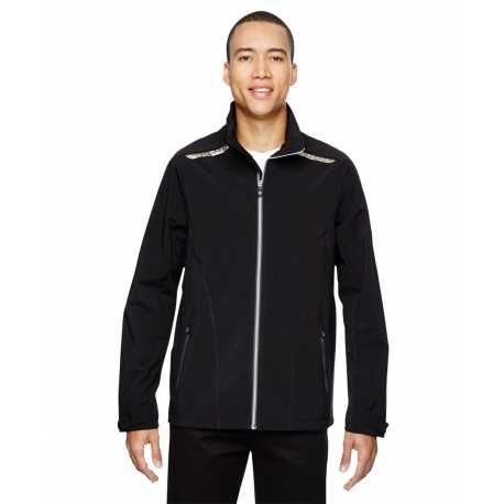 North End Sport Red 88693 Men's Excursion Soft Shell Jacket with Laser Stitch Accents