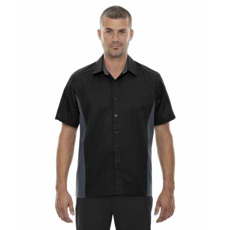 North End 87042 Men's Fuse Colorblock Twill Shirt