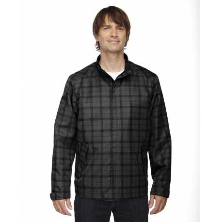 North End Sport Blue 88671 Men's Locale Lightweight City Plaid Jacket