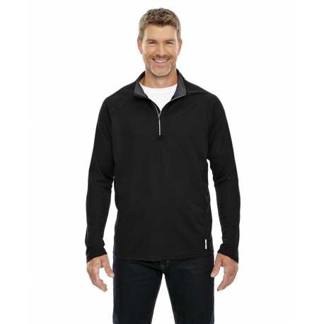 North End 88187 Men's Radar Quarter-Zip Performance Long-Sleeve Top