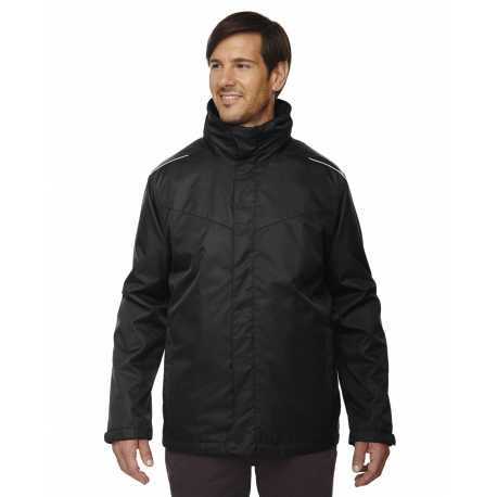 Core365 88205 Men's Region 3-in-1 Jacket with Fleece Liner
