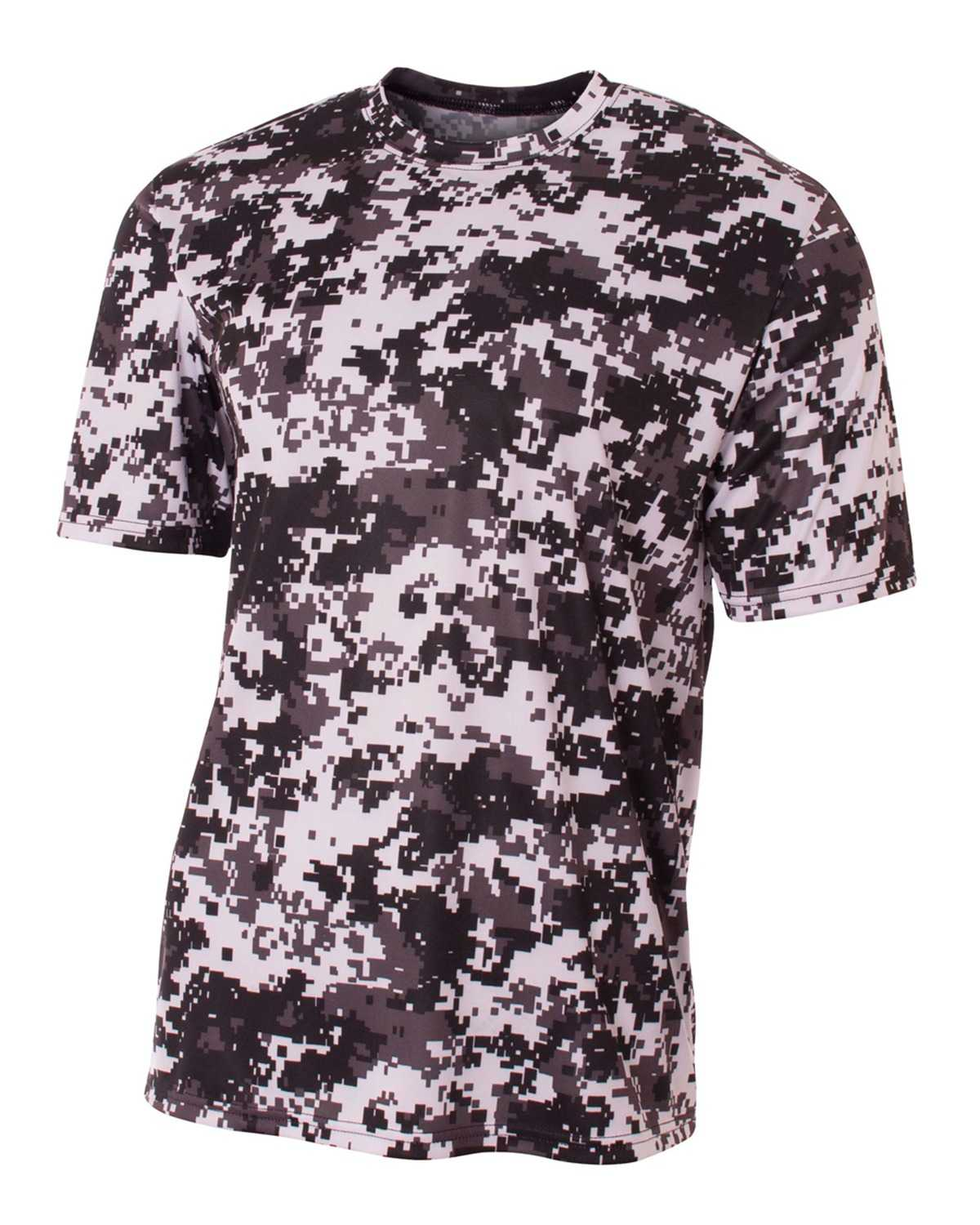 A4 Nb3256 Youth Camo Performance Crew T Shirt