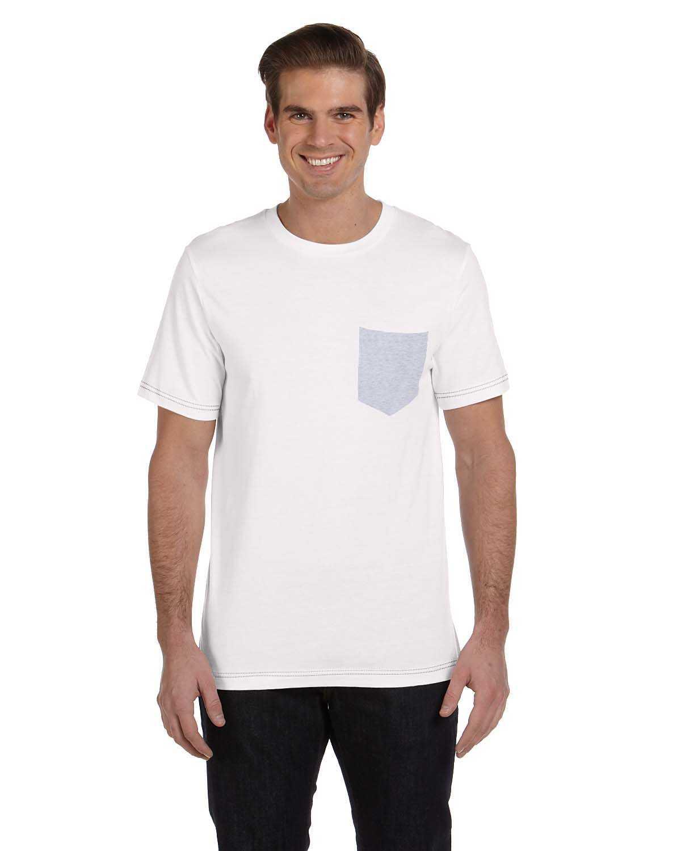 Bella canvas 3021 men 39 s jersey short sleeve pocket t for Boys pocket t shirt
