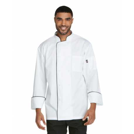 Dickies DC411 Unisex Cool Breeze Chef Coat with Piping