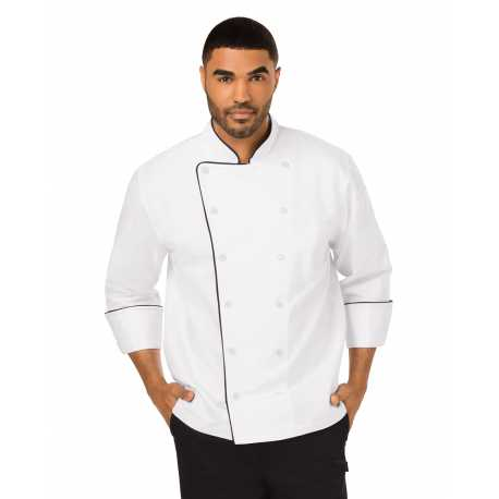 Dickies DC42B Unisex Executive Chef Coat with Piping