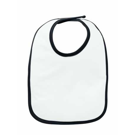 Rabbit Skins RS1004 Infant Jersey Contrast Trim Velcro Bib