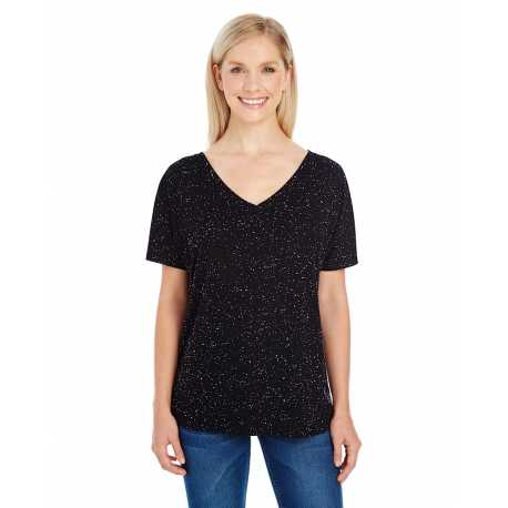 Threadfast Apparel 203FV Ladies' Triblend Fleck Short-Sleeve V-Neck T-Shirt