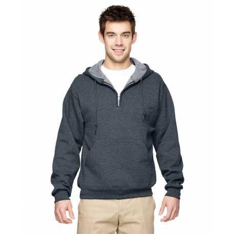 Jerzees 994MR Adult 8 oz. NuBlend Fleece Quarter-Zip Pullover Hood