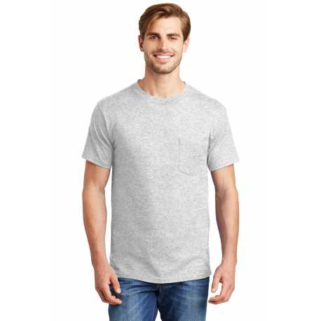 Hanes 5190 Beefy-T 100% Cotton T-Shirt with Pocket