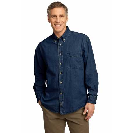 Port & Company SP10 Long Sleeve Value Denim Shirt