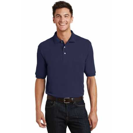 Port Authority K420P Heavyweight Cotton Pique Polo with Pocket