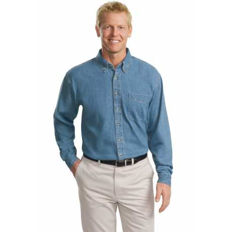 Port Authority TLS600 Tall Long Sleeve Denim Shirt