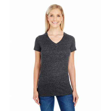 Threadfast Apparel 202B Ladies' Triblend Short-Sleeve V-Neck T-Shirt