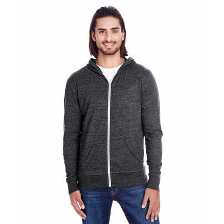 Threadfast Apparel 302Z Unisex Triblend Full-Zip Light Hoodie