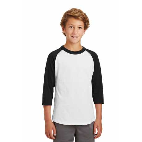 Sport-Tek YT200 Youth Colorblock Raglan Jersey