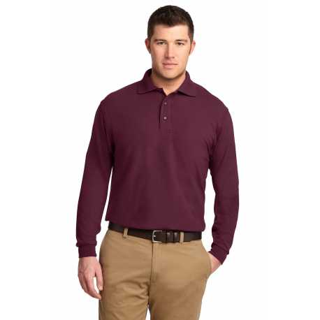 Port Authority K500LS Silk Touch Long Sleeve Polo