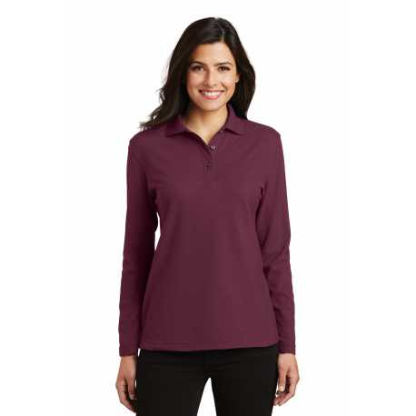 Port Authority L500LS Ladies Silk Touch Long Sleeve Polo