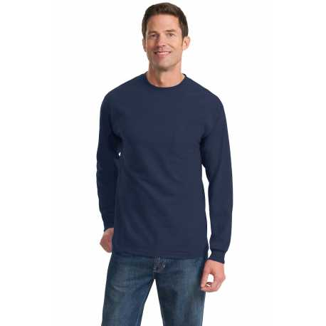 Port & Company PC61LSP Long Sleeve Essential Pocket Tee