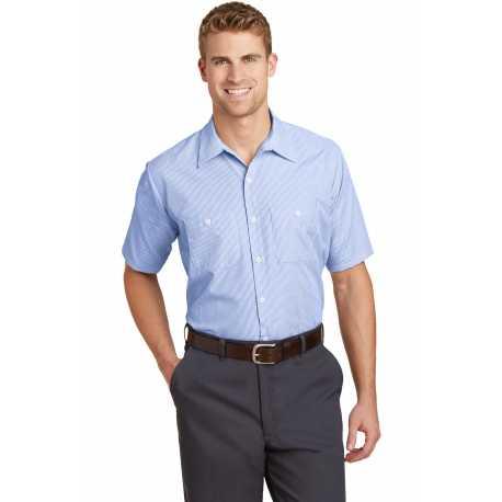Red Kap CS20 Short Sleeve Striped Industrial Work Shirt