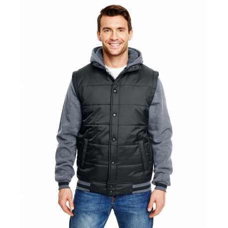 Burnside B8701 Adult Fleece Sleeeved Puffer Vest