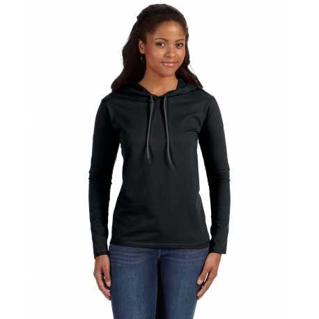 Anvil 887L Ladies' Lightweight Long-Sleeve Hooded T-Shirt