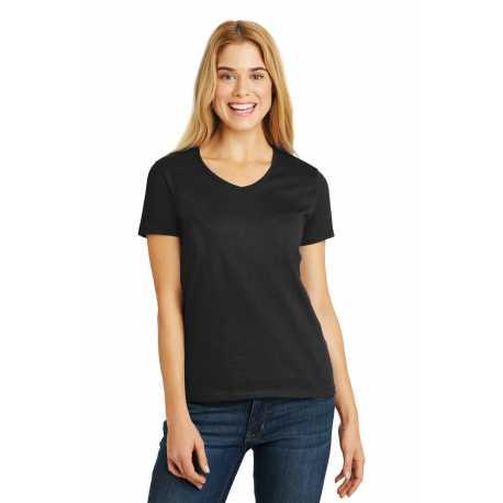 Hanes 5780 Ladies Tagless 100% Cotton V-Neck T-Shirt