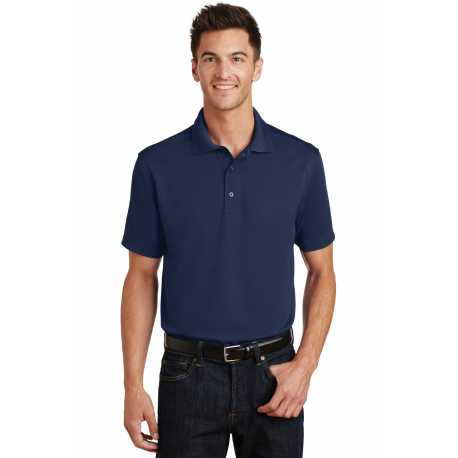 Port Authority K497 Poly-Charcoal Blend Pique Polo