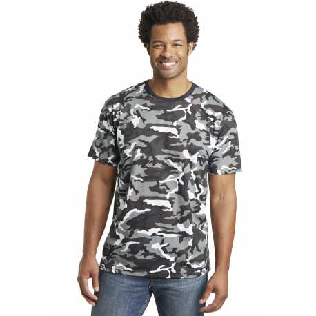 District Made Made DT104C Made Mens Camo Perfect Weight Crew Tee