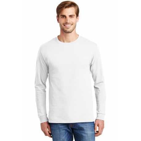 Hanes 5586 Tagless 100% Cotton Long Sleeve T-Shirt