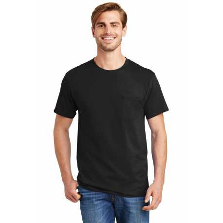 Hanes 5590 Tagless 100% Cotton T-Shirt with Pocket