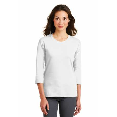 Port Authority L517 Ladies Modern Stretch Cotton 3/4-Sleeve Scoop Neck Shirt