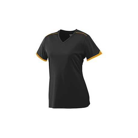 Augusta Sportswear 5045 Ladies Wicking Polyester Short Sleeve T-Shirt with Contrast Piping