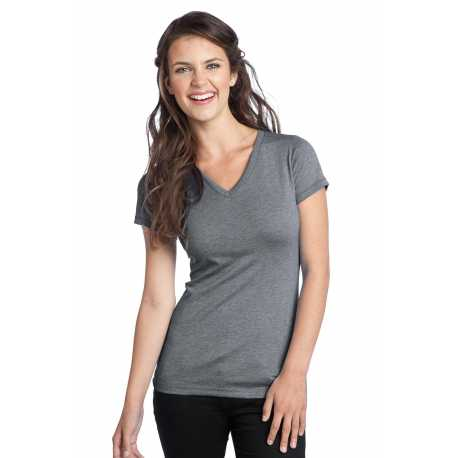 District DT242V Juniors Tri-Blend V-Neck Tee