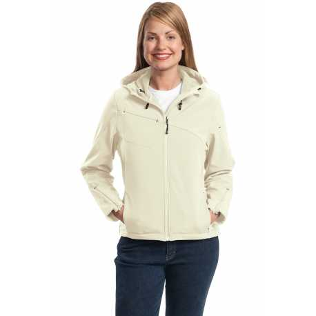 Port Authority L706 Ladies Textured Hooded Soft Shell Jacket