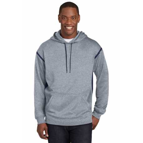 Sport-Tek F246 Tech Fleece Colorblock Hooded Sweatshirt