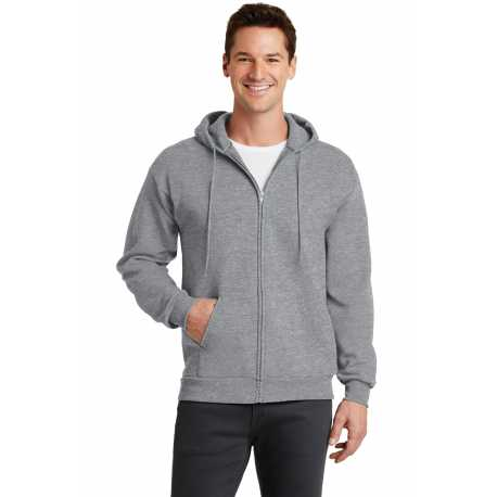 Port & Company PC78ZH Core Fleece Full-Zip Hooded Sweatshirt