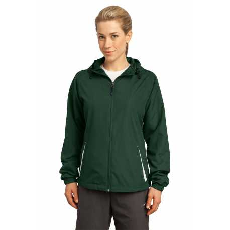 Sport-Tek LST76 Ladies Colorblock Hooded Raglan Jacket