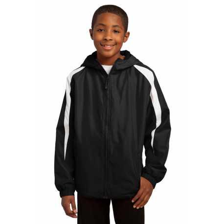 Sport-Tek YST81 Youth Fleece-Lined Colorblock Jacket
