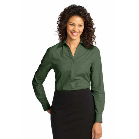 Port Authority L640 Ladies Crosshatch Easy Care Shirt