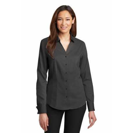Red House RH63 Ladies French Cuff Non-Iron Pinpoint Oxford Shirt