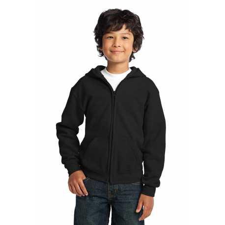 Gildan 18600B Youth Heavy Blend Full-Zip Hooded Sweatshirt