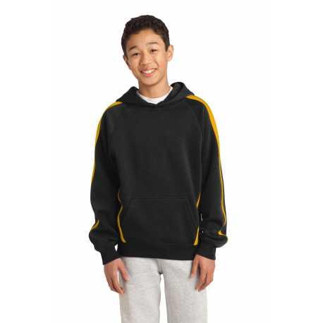 Sport-Tek YST265 Youth Sleeve Stripe Pullover Hooded Sweatshirt